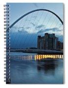 Gateshead Millennium Bridge Spiral Notebook