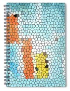 Geometric Abstract Spiral Notebook