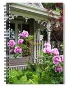 Gingerbread And Tree Peonies Spiral Notebook