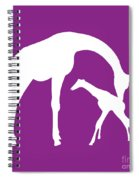 Giraffe In Purple And White Spiral Notebook
