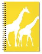 Giraffes In Golden And White Spiral Notebook