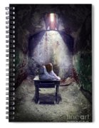 Girl In Abandoned Room Spiral Notebook