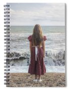 Girl On Beach Spiral Notebook