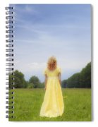 Girl On Meadow Spiral Notebook