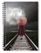 Girl On Tracks Spiral Notebook