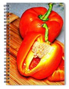 Glowing Peppers With Texture Spiral Notebook