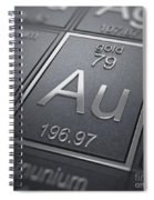 Gold Chemical Element Spiral Notebook