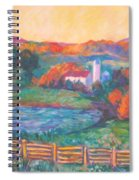 Golden Farm Scene Spiral Notebook