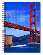 Golden Gate Bridge Panoramic View Spiral Notebook