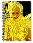 Golden Goddess Spiral Notebook