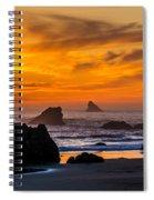 Golden Harris Beach Sunset - Oregon Spiral Notebook