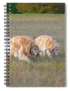 Golden Retriever Dogs On The Hunt Spiral Notebook
