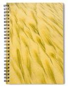Golden Sand Pattern Created By Surf On Beach Spiral Notebook