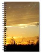 Golden Sunset 61 Spiral Notebook