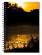 Golden Sunset Spiral Notebook