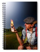 Golf Ball Flames Spiral Notebook