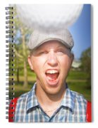 Golf Four And Out Cold Spiral Notebook