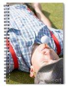 Golf Player Finding Inner Balance Spiral Notebook