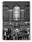 Grand Central Station Bw Spiral Notebook