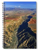 Great Canyon River Gor In Spain Spiral Notebook