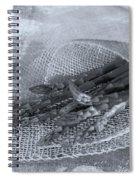 Green Asparagus On Burlab Spiral Notebook