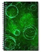Green Bubbles Spiral Notebook