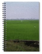 Green Fields With Birds In Kerala Spiral Notebook