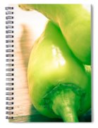 Green Jalapeno Peppers Spiral Notebook