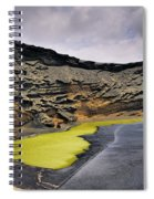 Green Lagoon On Lanzarote Spiral Notebook