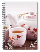 Green Tea Set Spiral Notebook