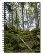 Green Untouched Forest Spiral Notebook