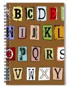 Grunge Alphabet Spiral Notebook