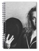 Grunge Photo Of Female Cabaret Performer Spiral Notebook