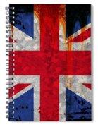 Grunge Union Flag Spiral Notebook