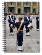 Guards Changing Shifts. Kungliga Slottet.gamla Stan. Stockholm 2 Spiral Notebook