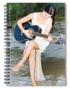 Guitar Woman Spiral Notebook