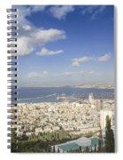 Haifa Bay Panorama Spiral Notebook