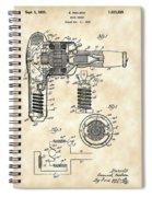 Hair Dryer Patent 1929 - Vintage Spiral Notebook