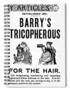 Hair Restorative, 1887 Spiral Notebook