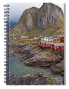 Hamnoy Rorbu Village Spiral Notebook