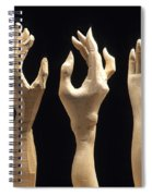 Hands Of Wood Puppets Spiral Notebook