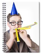 Handsome Business Man. Party For Many Year Service Spiral Notebook