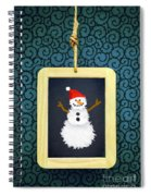 Hanged Xmas Slate - Snowman Spiral Notebook