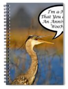 Happy Heron Anniversary Card Spiral Notebook