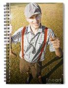 Happy The Golf Man Spiral Notebook