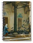 Harem Women Feeding Pigeons In A Courtyard Spiral Notebook