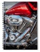 Harley Davidson Motorcycle Harley Bike Bw  Spiral Notebook