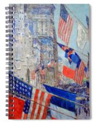 Hassam's Allies Day May 1917 -- The Avenue Of The Allies Spiral Notebook