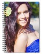 Hawaiian Girl In Hawaii Spiral Notebook