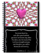 Heart And Love Design 16 With Bible Quote Spiral Notebook